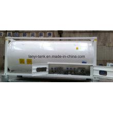 Envase del tanque de 25000L 20FT tamaño grande de acero inoxidable con válvulas para alimentos, aceite comestible, agua