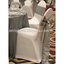 Lycra chair cover, hotel/banquet chair covers,silver satin sash