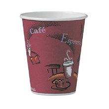 Diseño personalizado de una sola pared tazas de papel desechables de hielo con tapas