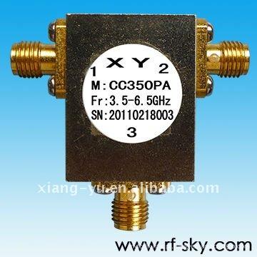 O circulador coaxial dianteiro NK da largura 4.4-5Hz da faixa do poder 600MHz 10W rf
