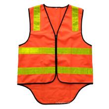 Fluorescent orange Australia safety vest with PVC reflective tape