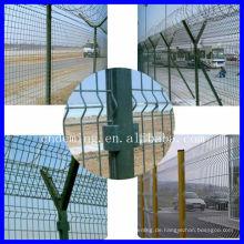 Flughafen-Sicherheitszaun mit Y-Pfosten und Stacheldraht