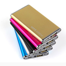 Custom Logo Luxury Metal Power Bank Li-Polymer Battery Charger 5600mAh
