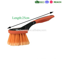 promotion fty price for soft bristle highly effective clean car wheel brush with silicone protect and soft handles