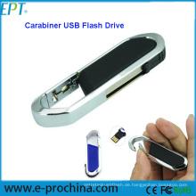 Einzigartiger Karabiner Formspeicherplatte USB Flash Drive ((ED017)