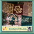 Popular latest design flocked style polyester printed velvet fabric for sofa and curtain
