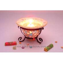 Handgefertigte Mosaik Kerzenständer mit Standfuß - GA8031