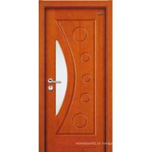 Painel de porta de madeira 1 porta de madeira lisa teca madeira porta principal projetos