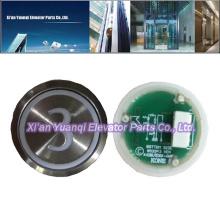 KONE Botones Ascensor Levantar Piezas De Acero Inoxidable Push Button KM853343H04