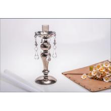 Rose Golden Single Poster Bougeoir en verre pour décoration de mariage