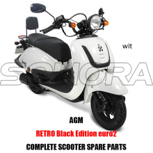 AGM Retro Black Edition SCOOTER BODY KIT PARTI MOTORE COMPLETO SCOOTER RICAMBI ORIGINALI RICAMBI