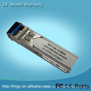 New product 1310nm 1.25G SFP Optical Transceiver 20KM Duplex LC 1.25G SFP Optic Module Compatible 1.25G SFP