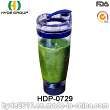 600ml FDA Passed Portable Protein Vortex Shaker Bottle, Plastic Electric Protein Shaker Bottle (HDP-0729)