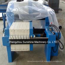 Prensa filtro de óleo de algodão e filtro de quadro