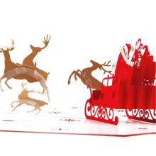 papier de travail manuel de haute qualité carte de voeux de Noël pop 3d