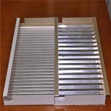 Paneles de aluminio corrugado para revestimiento de paredes y techos