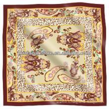 Шелковый шарф Twill Muslim Шарф Пейсли План площади Леди Хиджаб