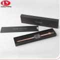 Boîte cadeau de montre de femmes noires rectangle