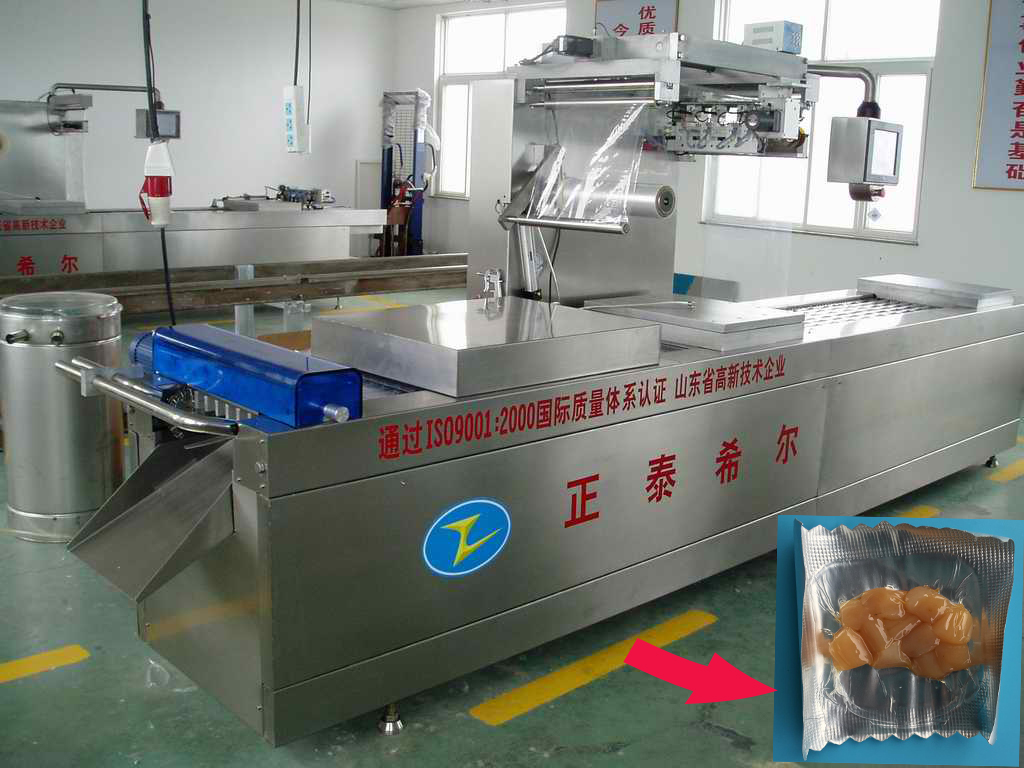 Large production automatic food vacuum packing machine