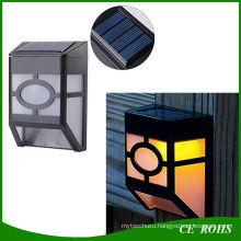 Dim Mode 10LEDs Retro White and Warm White PIR Sensor Solar LED Wall Path Lamp for Garden Aisle Wall
