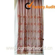 Schiere Vorhang bestickt