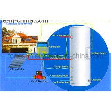 Calentador de agua solar de alta presión de circuito cerrado Heatpipe de cobre