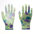 Colorful Polyester with PU Coated Safety Gloves