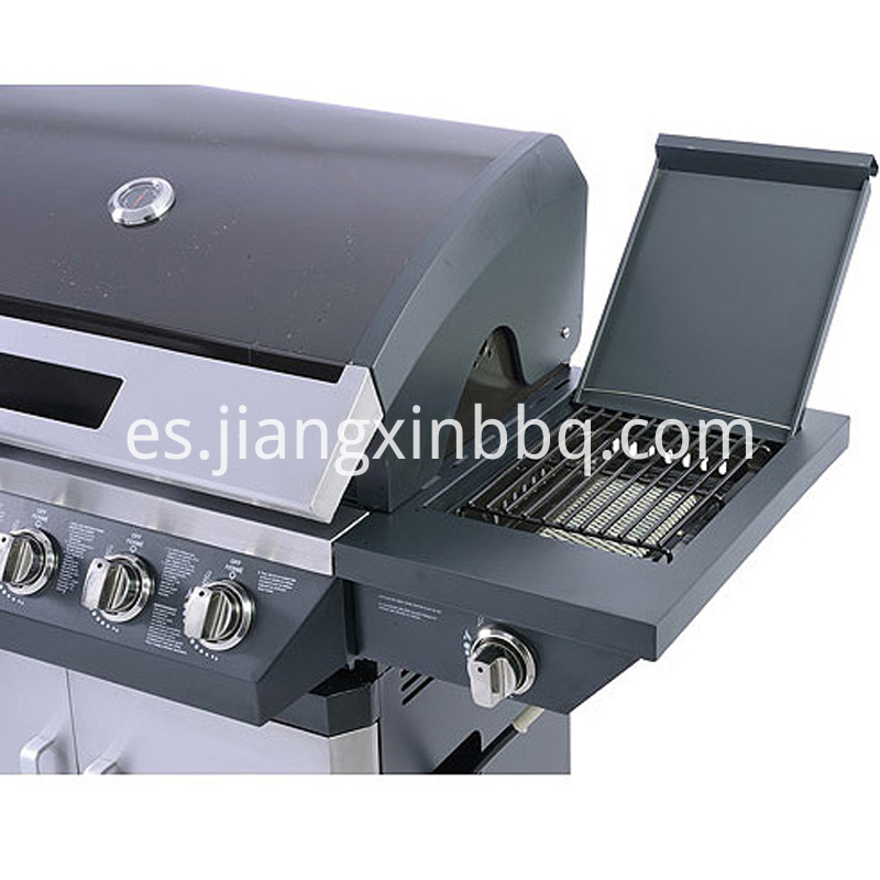 5 Burners Nature Gas BBQ Grill Side Burner View