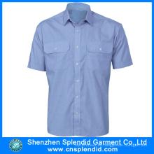 Uniformes baratos de la seguridad del algodón del Mens Workwear de 2016 Summerwear