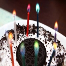 6 pcs Colored Flame Candle For Birthday Cake Decoration