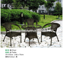 outdoor rattan chair and table sets for garden furniture