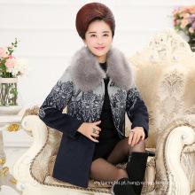 Elegância e Moda Inverno Mulheres Casaco