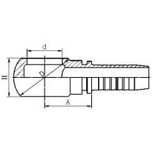 72011 Accesorios de manguera hidráulica Bsp Banjo