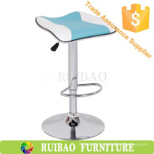 Modern Kitchen Counter Bar Stools Leather Bar Stool Saddle Seat High Chair