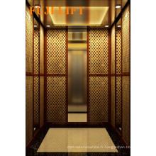 Ascenseur luxueux pour passagers avec sol en PVC