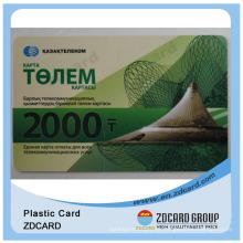Limpar em branco e impresso magnético Stripe PVC Card