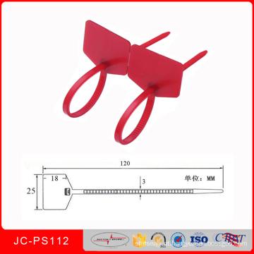Jcps-112 Cable Tightener Ties Selo de Identificação de Vedações de Fio de Segurança de Plástico Cable Tie Tanker Seal