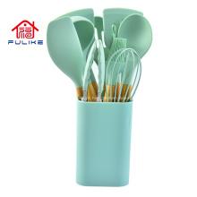 Conjunto de 12 peças de silicone para utensílios de cozinha