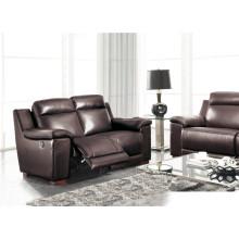Sofá de cuero genuino de la sala de estar (907)