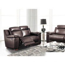 Sofá de sala de estar de couro genuino (907)