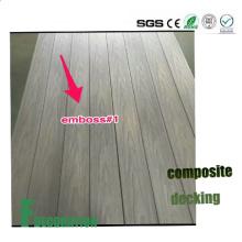 Plancher composé en plastique en bois de WPC de Co-Extrusion extérieure imperméable