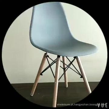 2018 Novo Design Barato PP Assento Faia De Madeira Leg Restaurante Bar Cadeira