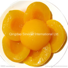 425g 820g A10 Pêssego amarelo enlatado em xarope claro (HACCP, ISO, BRC, FDA)