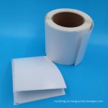 rodillo de papel adhesivo blanco en blanco blanco caliente de la venta de la venta