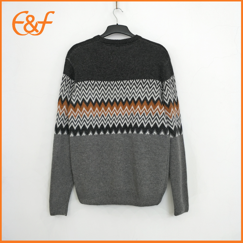 Jacquard Pullover Mongolian Cashmere Sweater