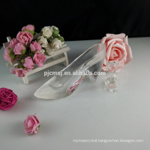 Crystal glass shoes decoration accessories figurine favors GCG-043