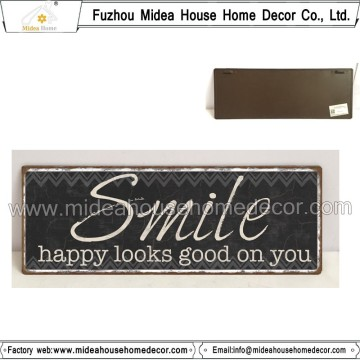 Unique Home Decoration Accessories Metal Plaque with Saying