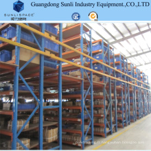 Plancher en acier de support de mezzanine de stockage multi de couche
