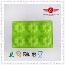 Forma de flor molde de silicona para hornear de chocolate