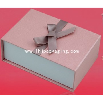 Cosmetic Packaging Paper Box with Ribbon
